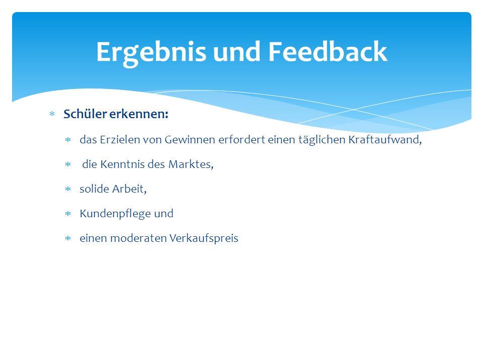 Ergebnis und Feedback Schüler erkennen: