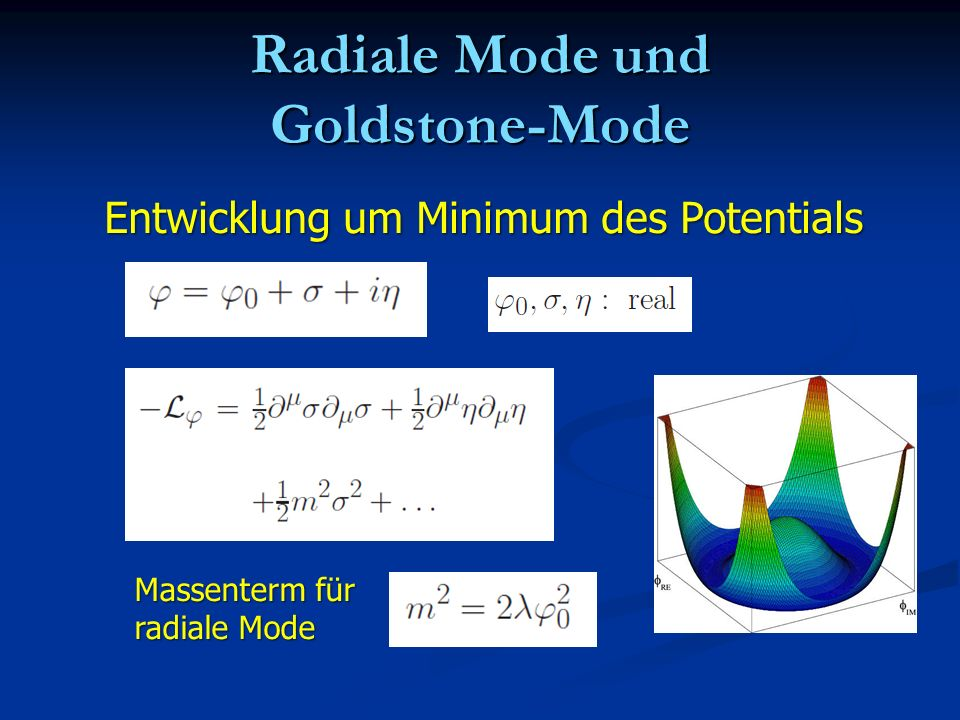 Radiale Mode und Goldstone-Mode