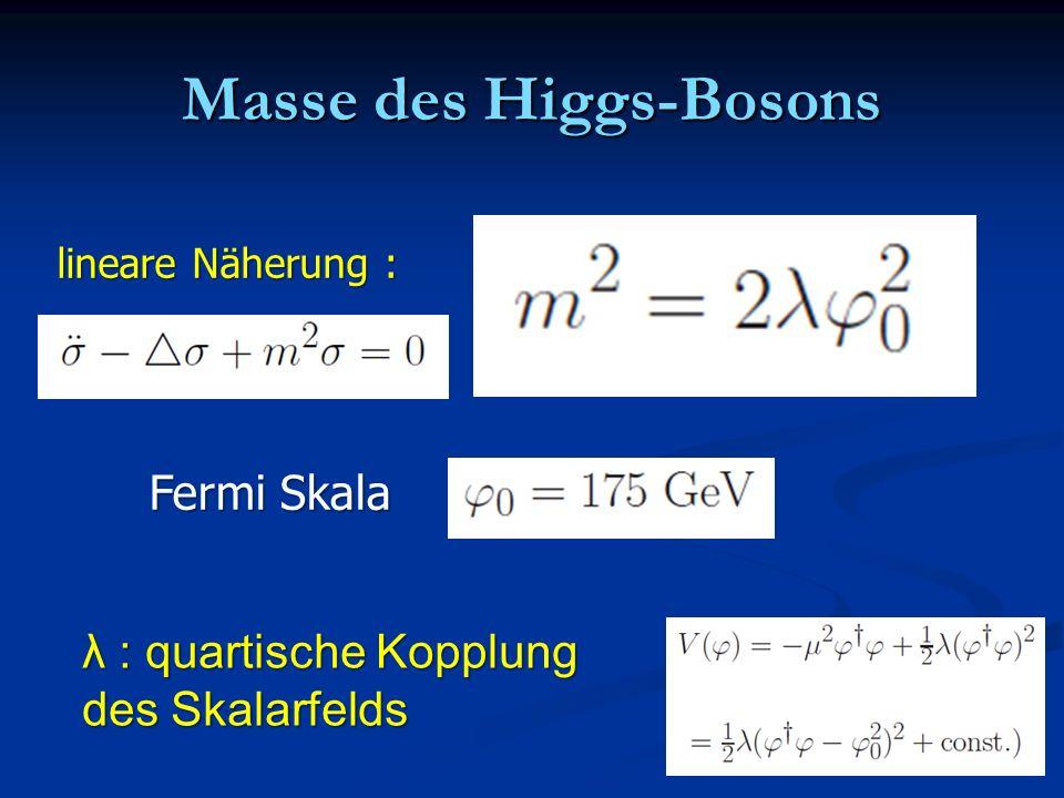 Masse des Higgs-Bosons