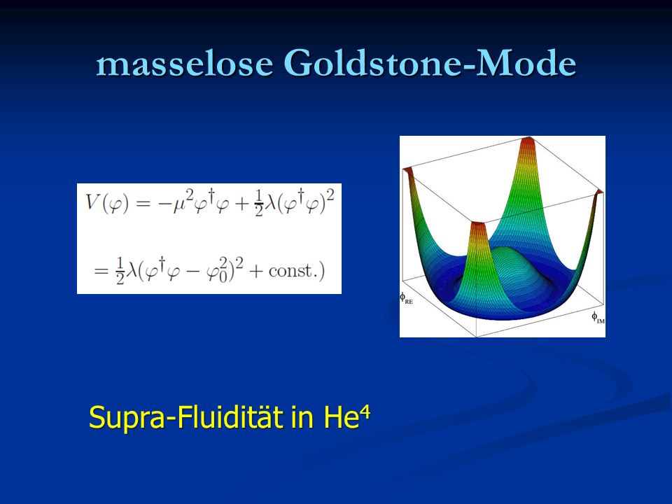 masselose Goldstone-Mode