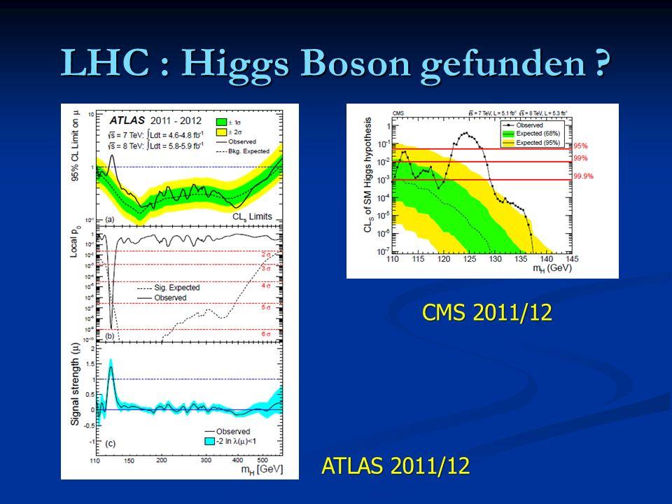 LHC : Higgs Boson gefunden