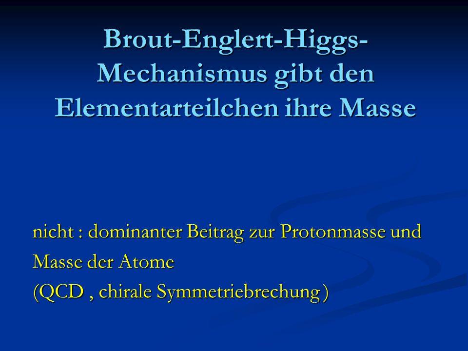 Brout-Englert-Higgs-Mechanismus gibt den Elementarteilchen ihre Masse