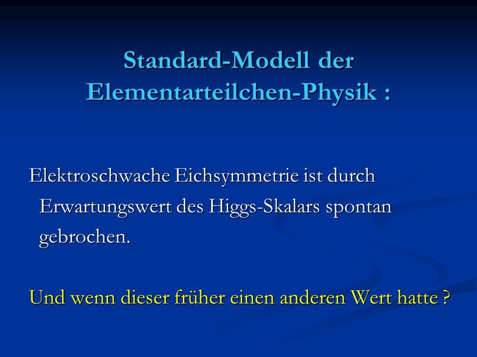 Standard-Modell der Elementarteilchen-Physik :