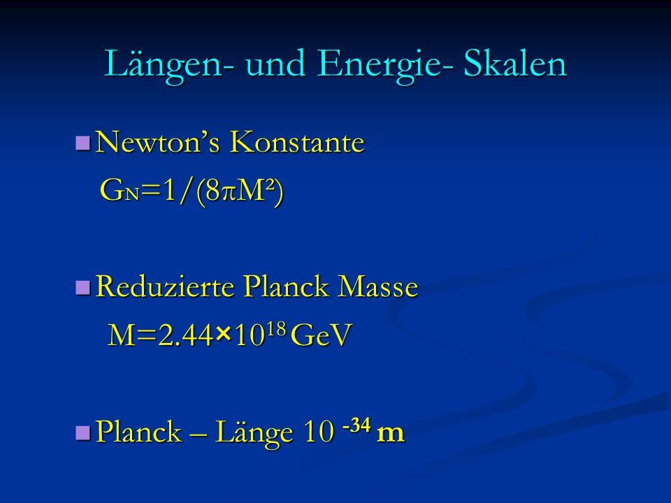 Längen- und Energie- Skalen