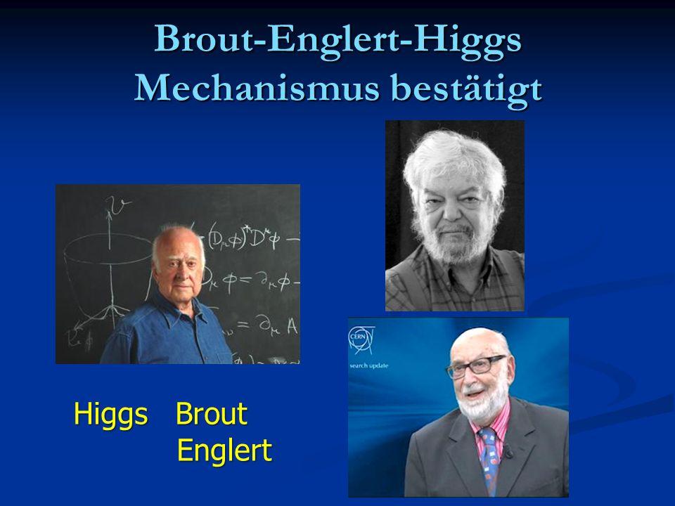 Brout-Englert-Higgs Mechanismus bestätigt