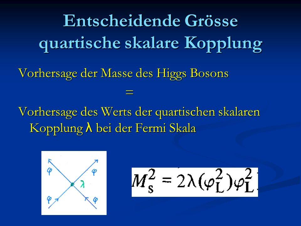 Entscheidende Grösse quartische skalare Kopplung