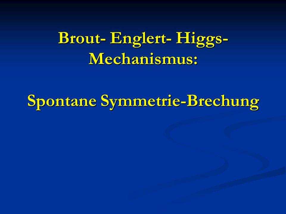 Brout- Englert- Higgs- Mechanismus: Spontane Symmetrie-Brechung