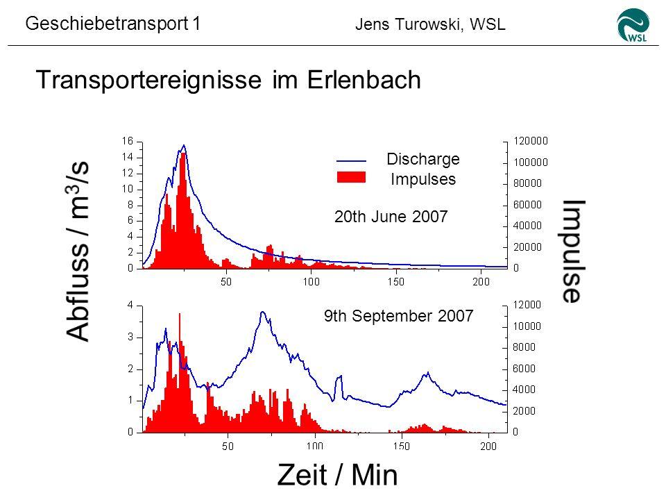 Transportereignisse im Erlenbach
