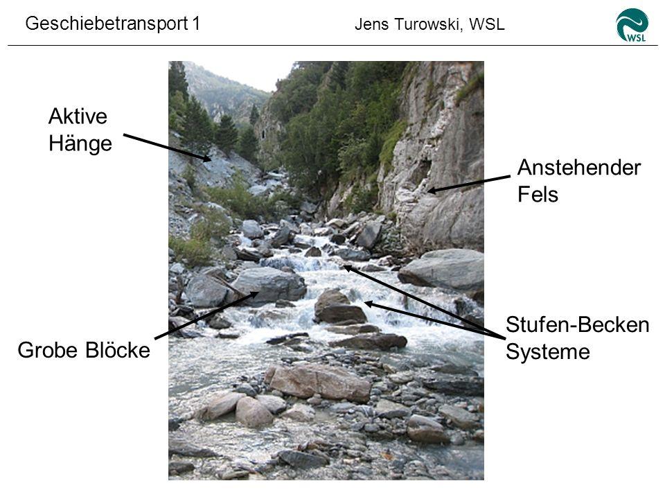 Aktive Hänge Anstehender Fels Stufen-Becken Systeme Grobe Blöcke