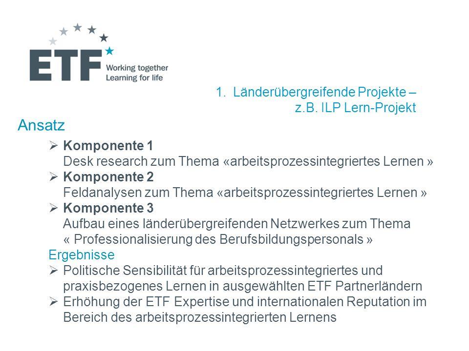 Ansatz Länderübergreifende Projekte – z.B. ILP Lern-Projekt