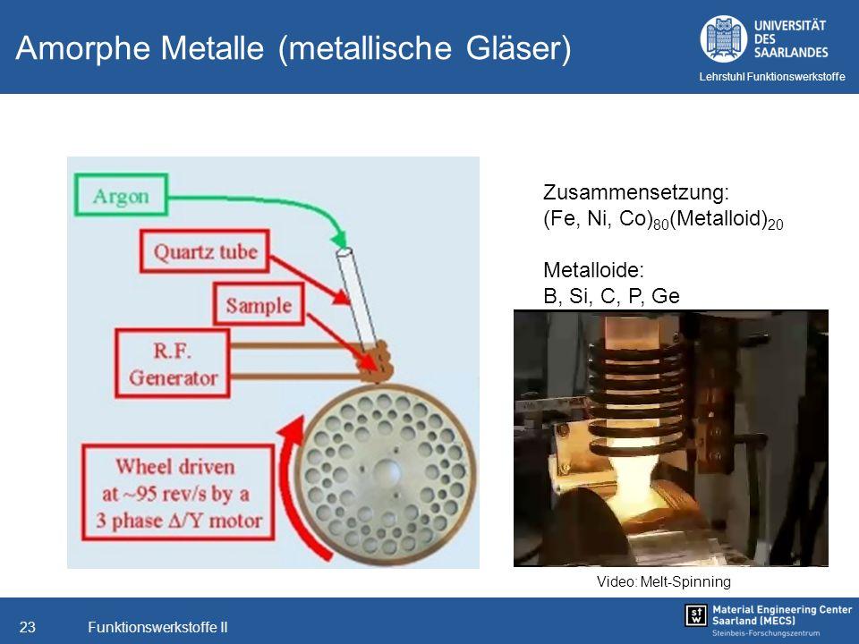 Amorphe Metalle (metallische Gläser)