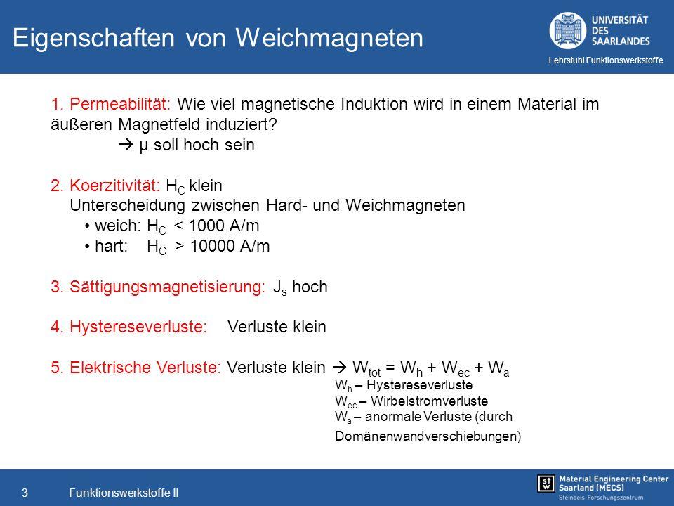 Eigenschaften von Weichmagneten