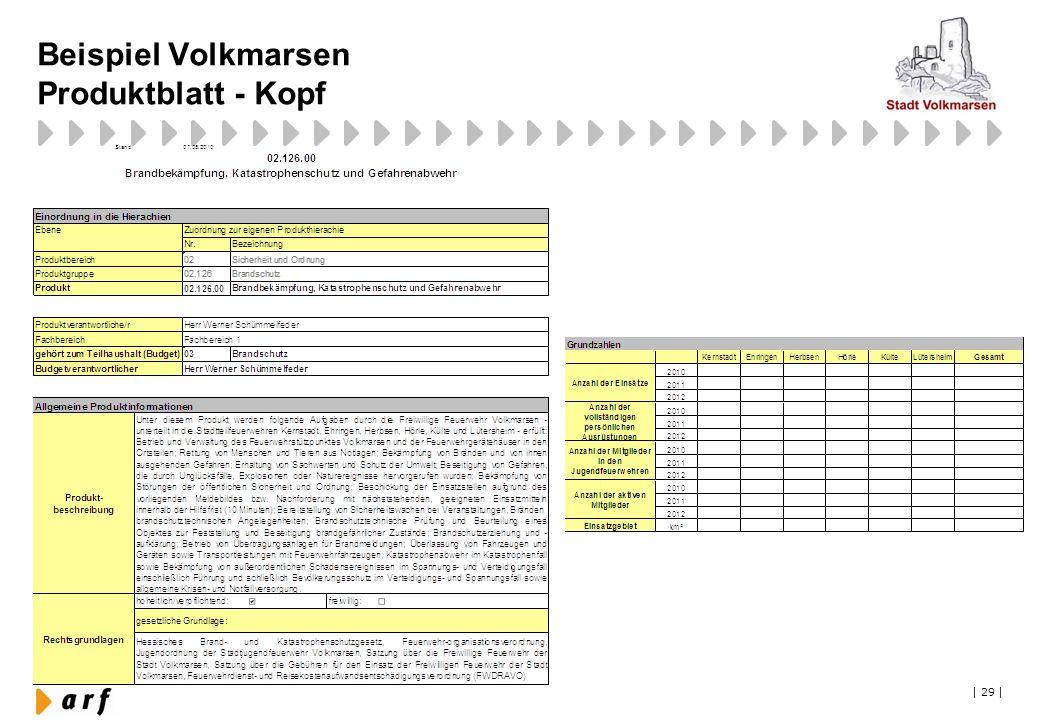 Beispiel Volkmarsen Produktblatt - Kopf