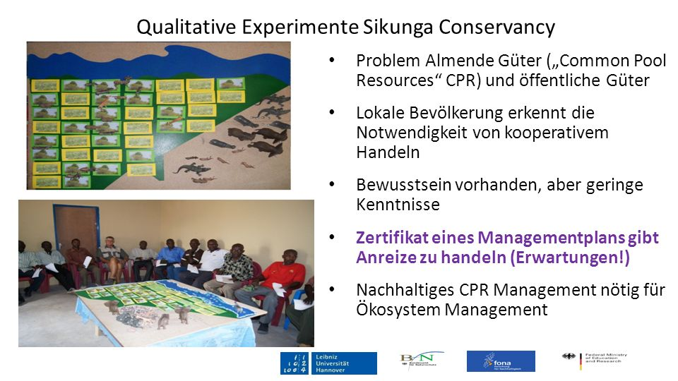 Qualitative Experimente Sikunga Conservancy