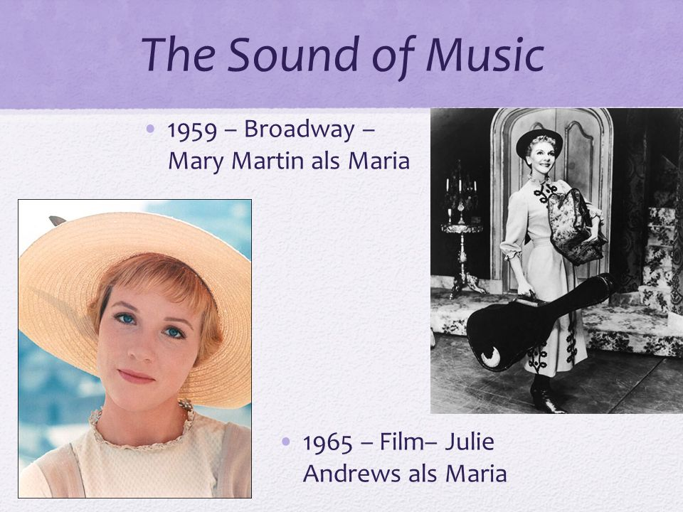The Sound of Music 1959 – Broadway – Mary Martin als Maria