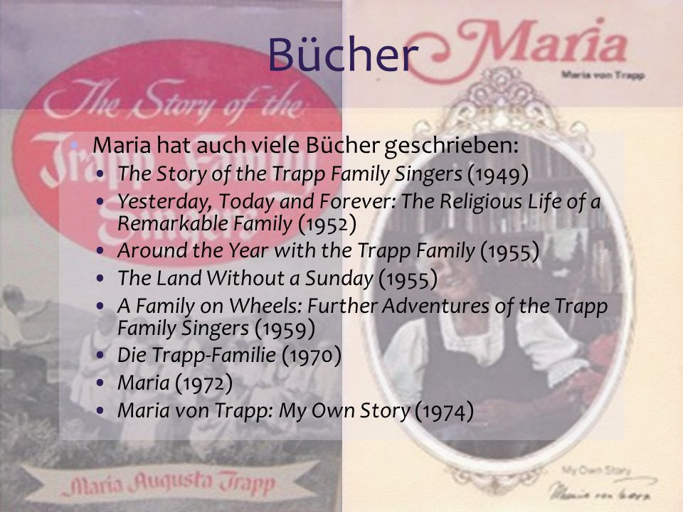 Bücher Maria hat auch viele Bücher geschrieben: