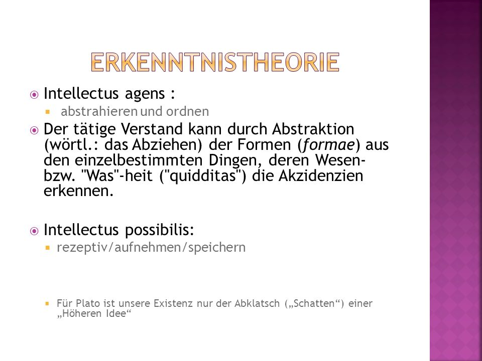 Erkenntnistheorie Intellectus agens :