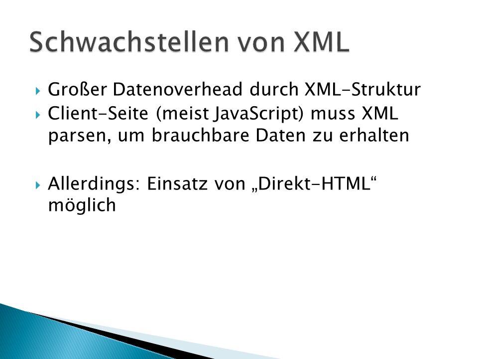 Schwachstellen von XML