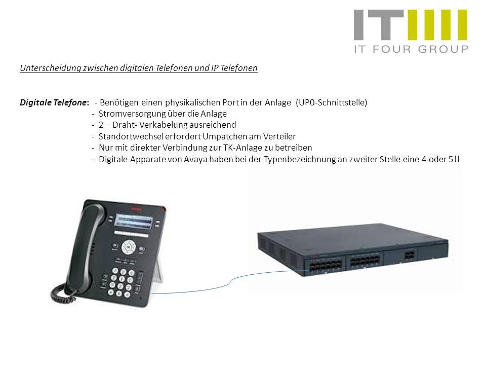 Unterscheidung zwischen digitalen Telefonen und IP Telefonen