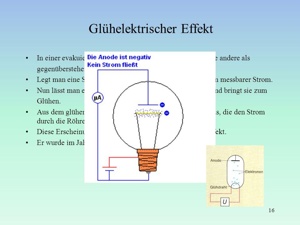 Glühelektrischer Effekt