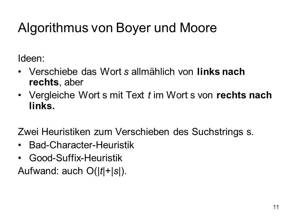 Algorithmus von Boyer und Moore