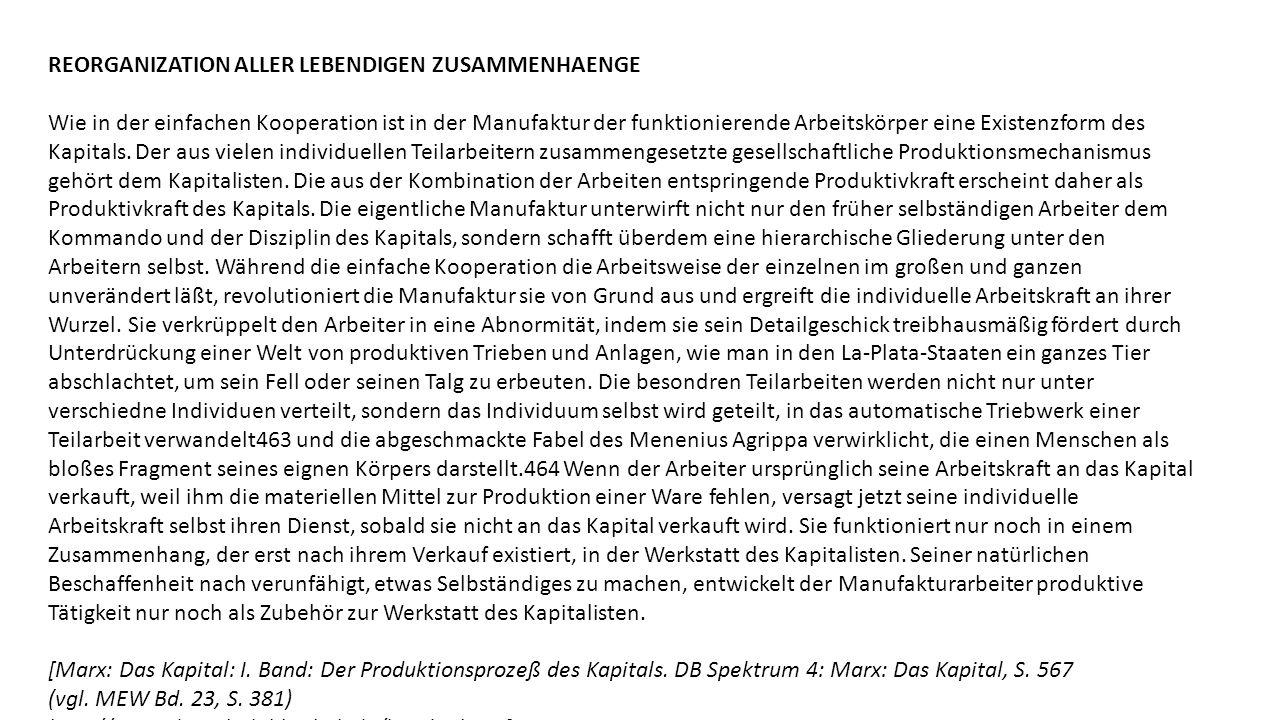 REORGANIZATION ALLER LEBENDIGEN ZUSAMMENHAENGE