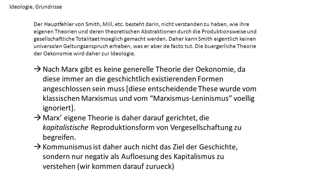Ideologie, Grundrisse