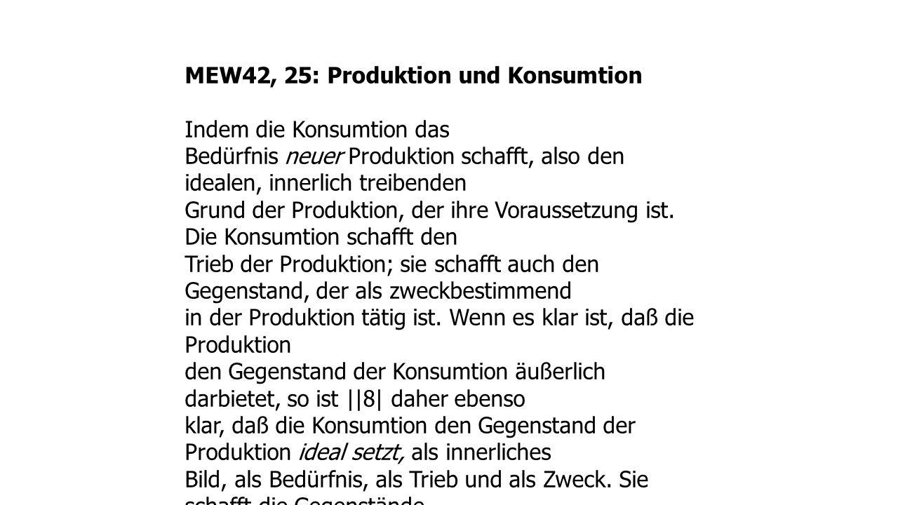 MEW42, 25: Produktion und Konsumtion