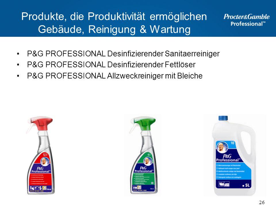 Produkte, die Produktivität ermöglichen Gebäude, Reinigung & Wartung