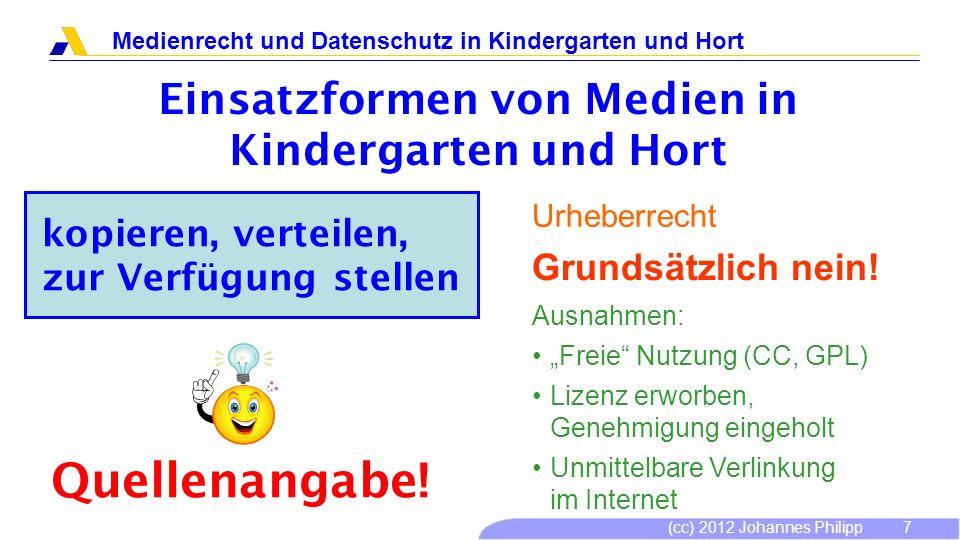 Einsatzformen von Medien in Kindergarten und Hort