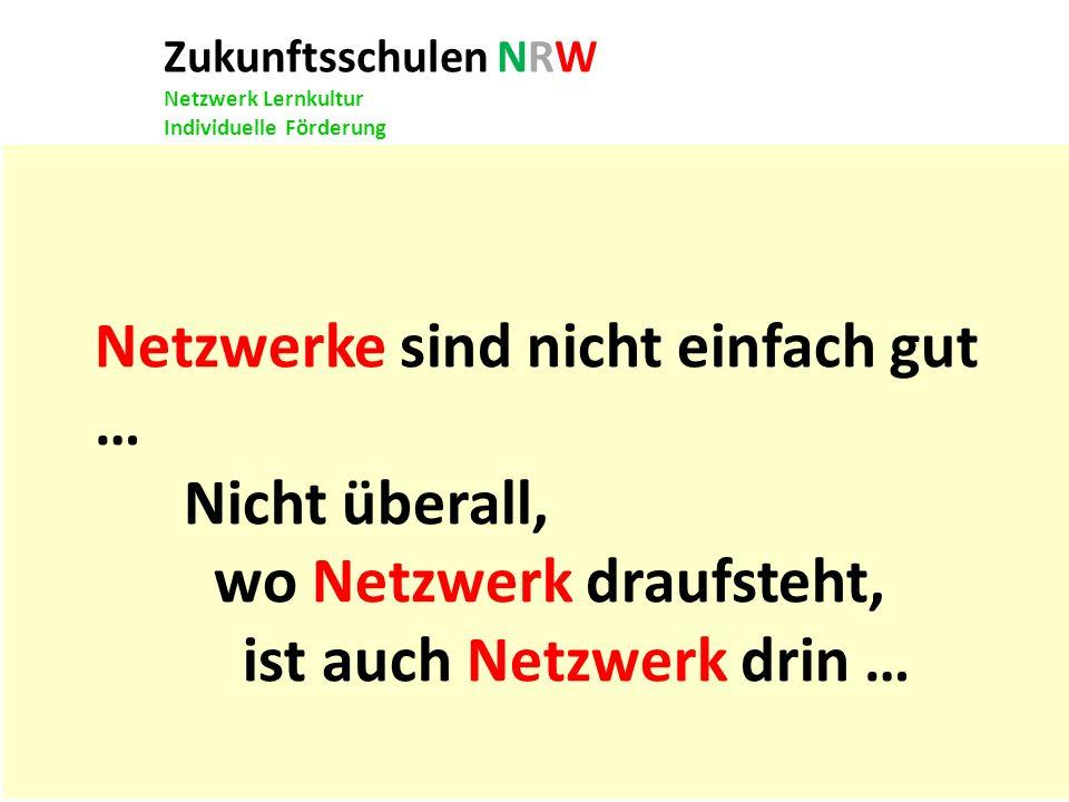 Netzwerke sind nicht einfach gut … Nicht überall,