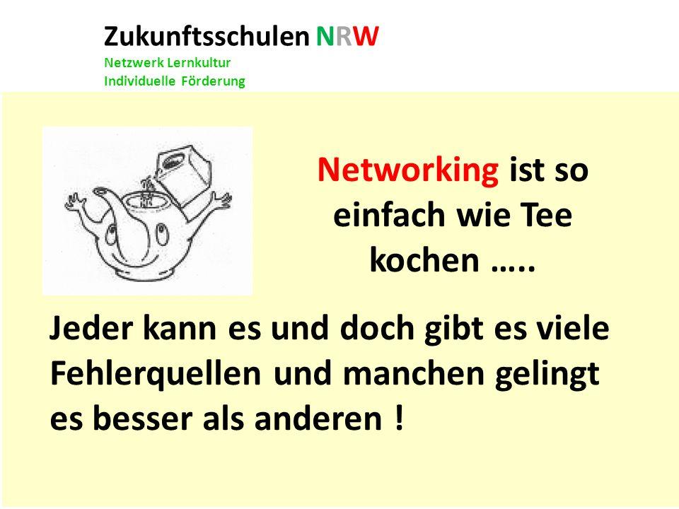 Networking ist so einfach wie Tee kochen …..
