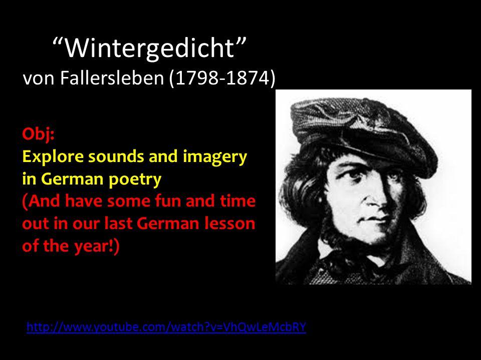 Wintergedicht von Fallersleben (1798-1874)