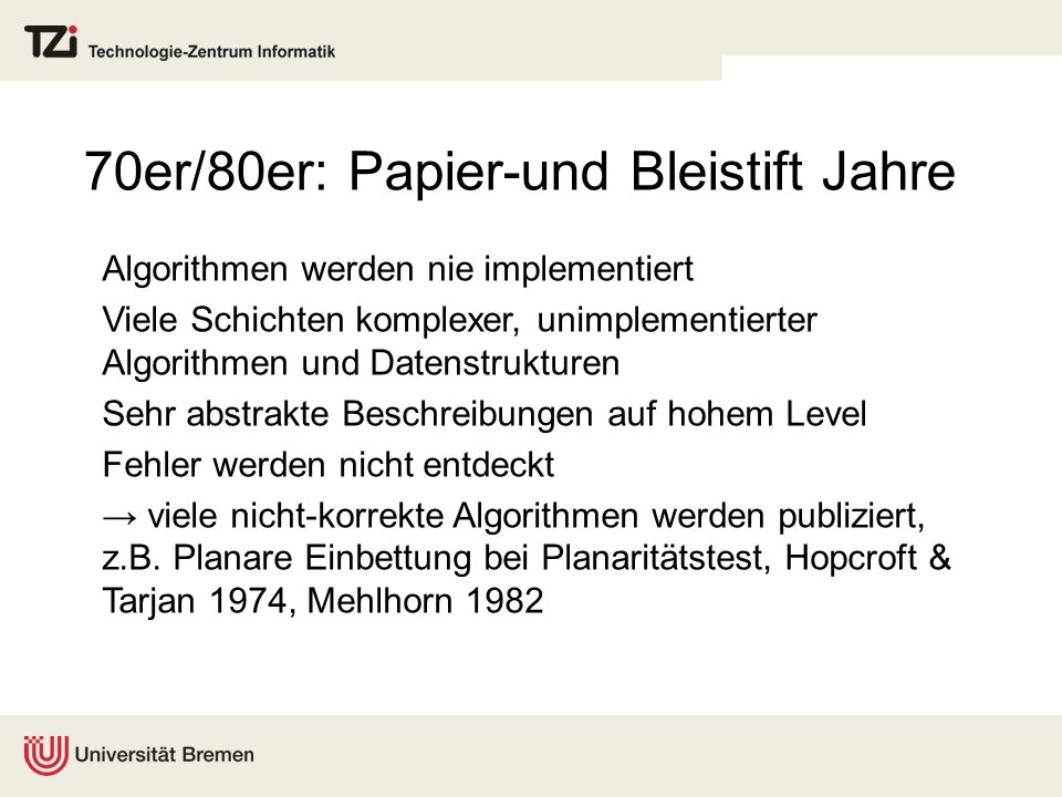 70er/80er: Papier-und Bleistift Jahre