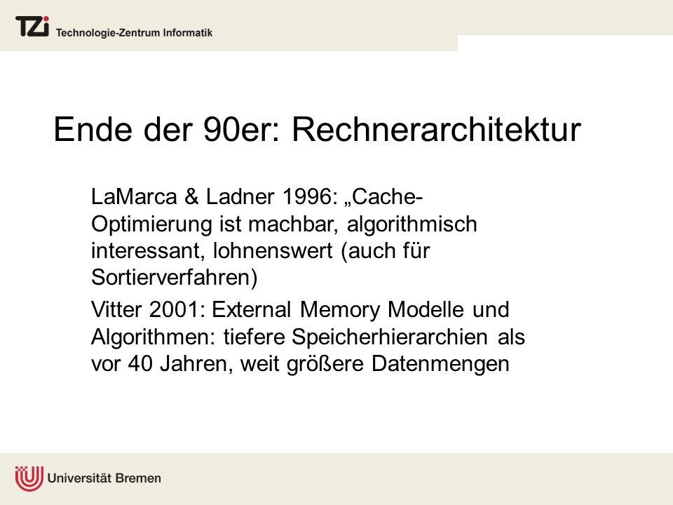 Ende der 90er: Rechnerarchitektur