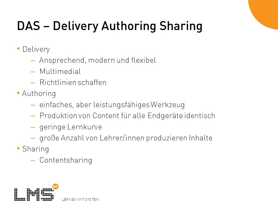 DAS – Delivery Authoring Sharing