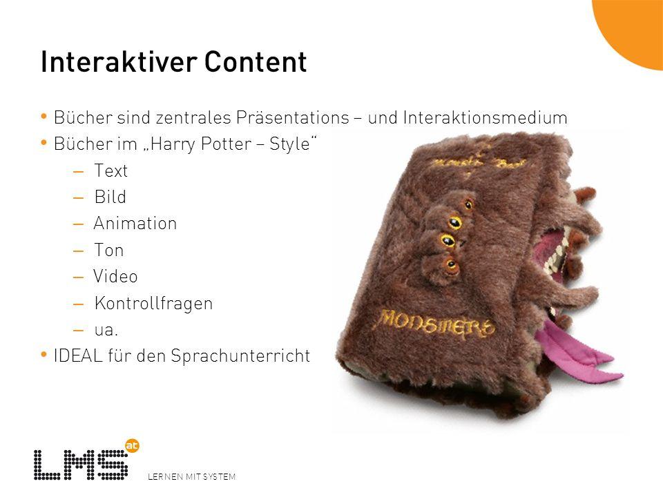 """Interaktiver Content Bücher sind zentrales Präsentations – und Interaktionsmedium. Bücher im """"Harry Potter – Style"""