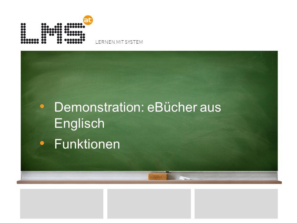 Demonstration: eBücher aus Englisch Funktionen