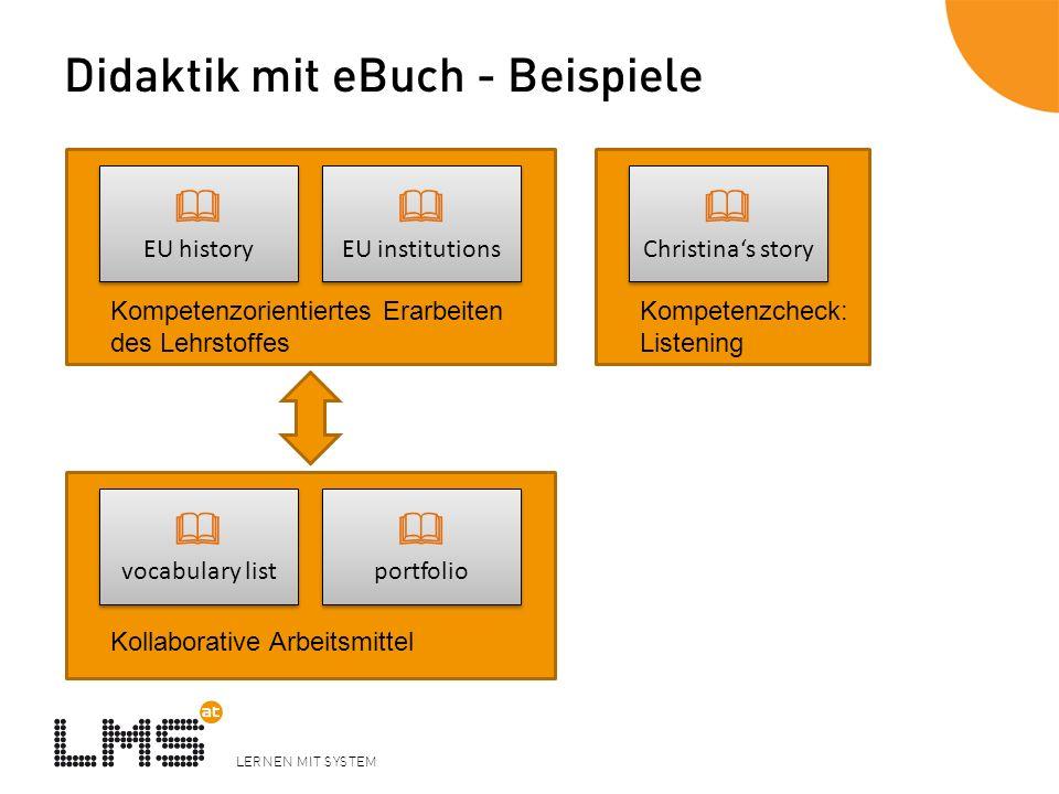 Didaktik mit eBuch - Beispiele