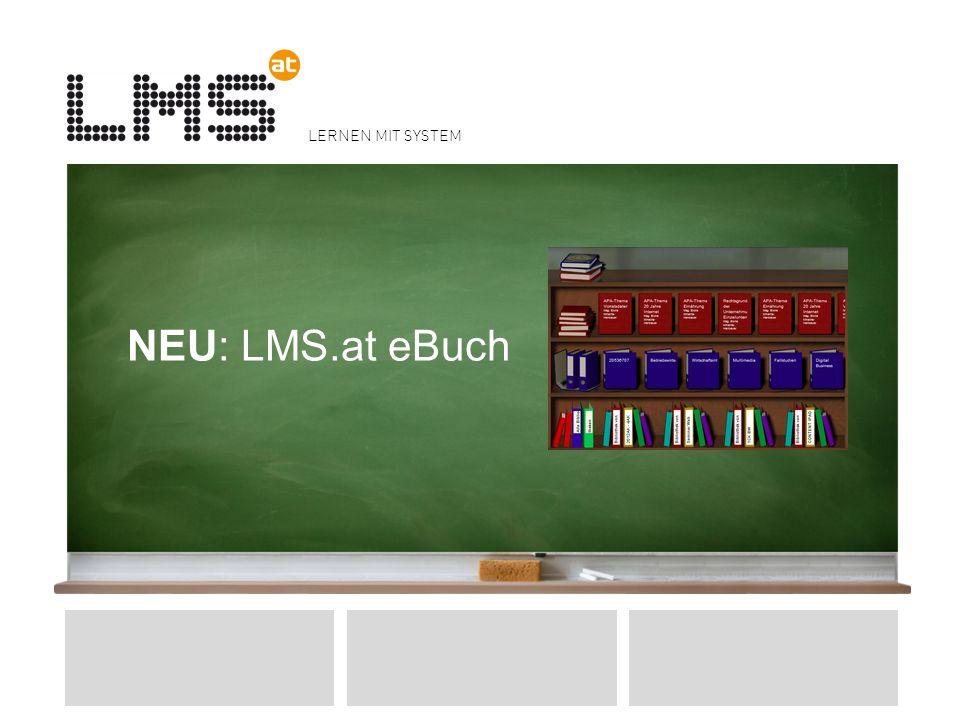 NEU: LMS.at eBuch Klausurtagung der NÖ-Schulaufsicht APS - 28.3.2012 Dürnstein - Mag. Fuchs