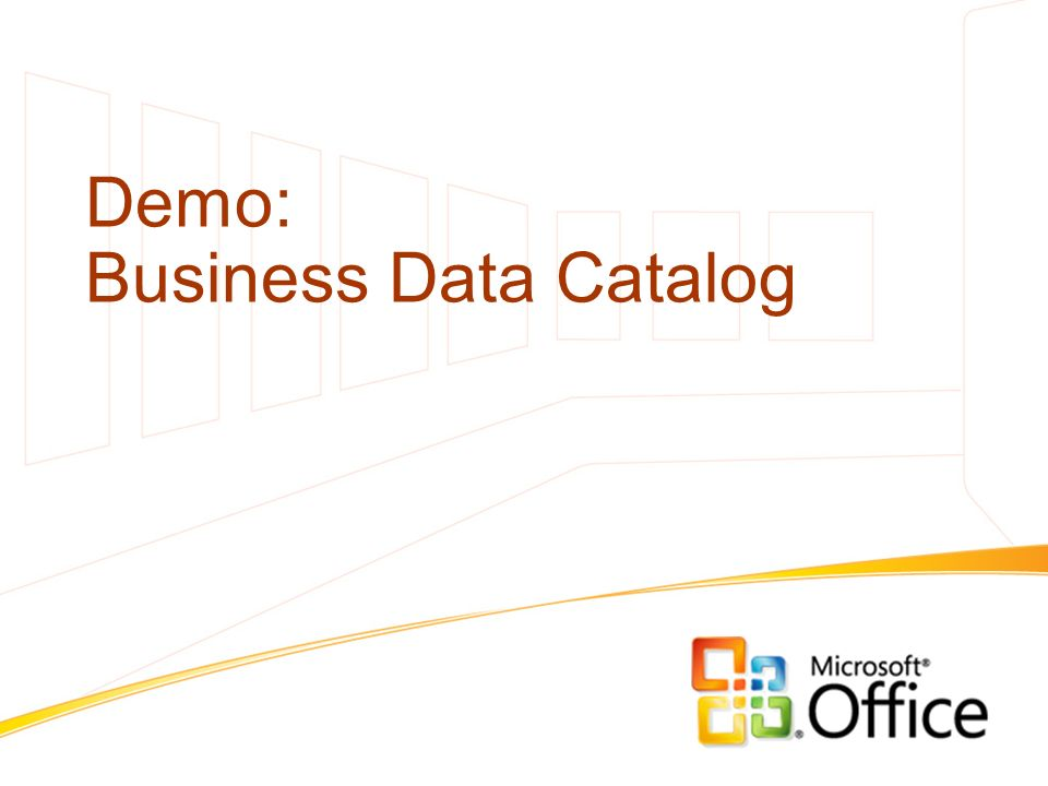 Demo: Business Data Catalog