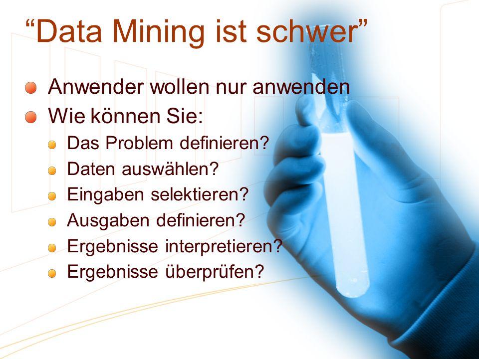 Data Mining ist schwer