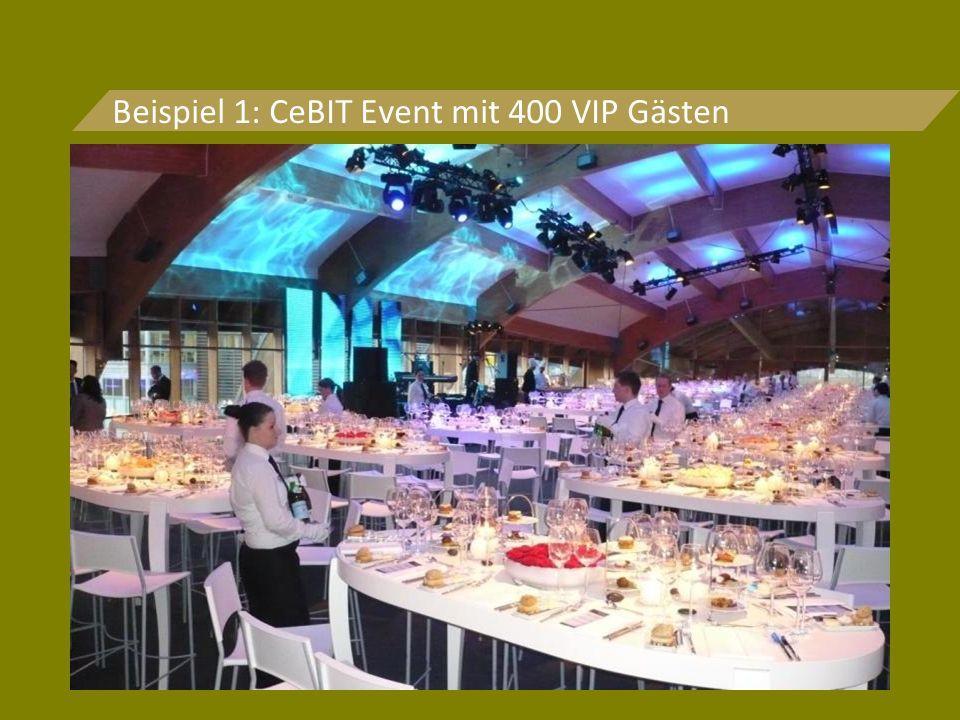Beispiel 1: CeBIT Event mit 400 VIP Gästen