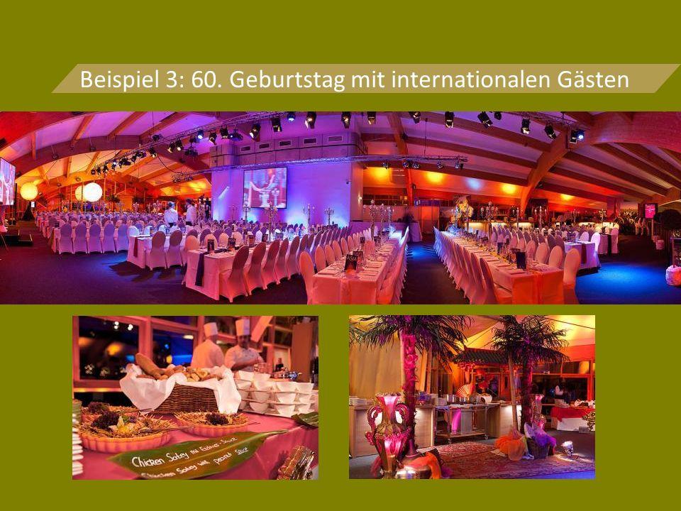 Beispiel 3: 60. Geburtstag mit internationalen Gästen