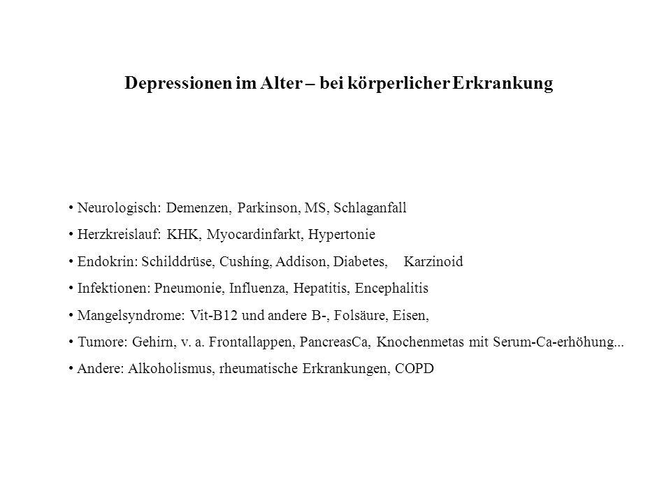 Depressionen im Alter – bei körperlicher Erkrankung