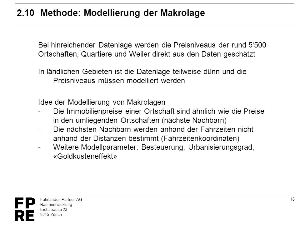2.10 Methode: Modellierung der Makrolage