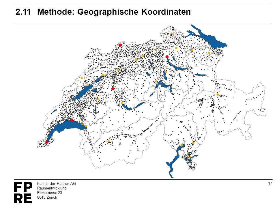 2.11 Methode: Geographische Koordinaten