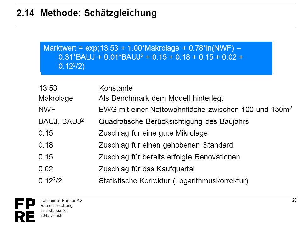 2.14 Methode: Schätzgleichung
