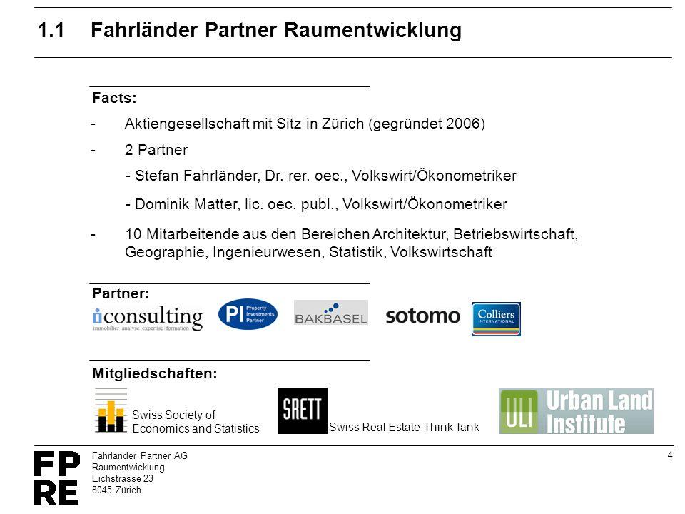 1.1 Fahrländer Partner Raumentwicklung