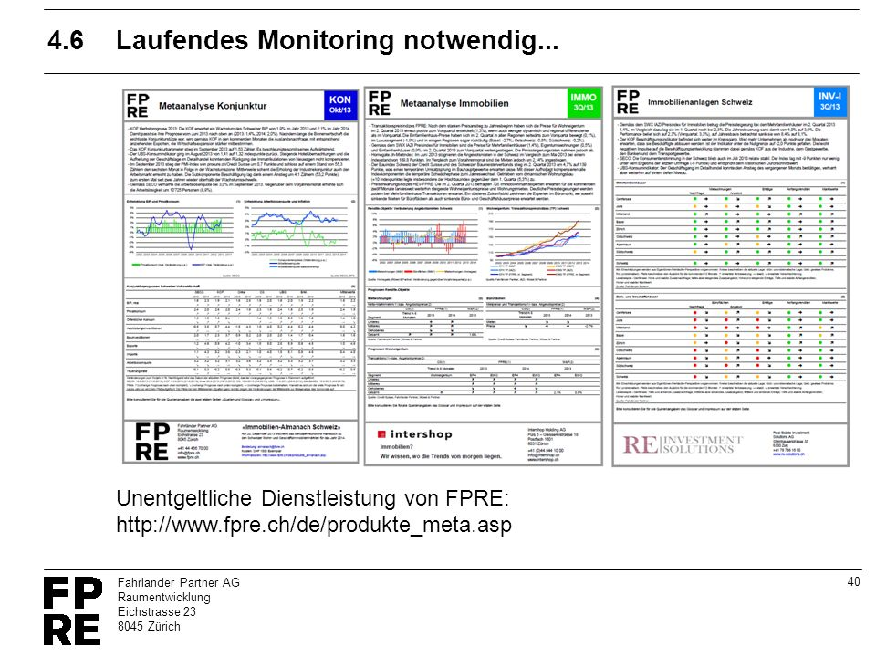 4.6 Laufendes Monitoring notwendig...